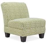 Havertown Slipper Chair Wrought Studio Fabric: Apple Green and Cream Greek Key
