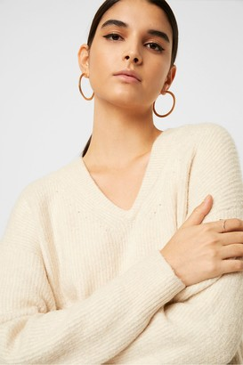 French Connection Flossy Teri V Neck Jumper