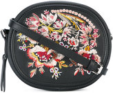 No.21 floral embroidery clutch bag - women - Leather - One Size
