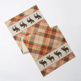 Celebrate Local Life Together Plaid Moose Table Runner - 36""