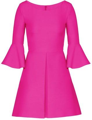 Valentino Bell-Sleeve Wool & Silk Dress