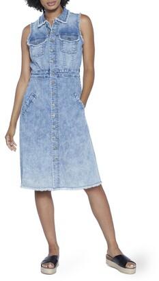 WASH LAB Denim Midi Dress