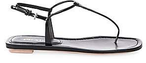 Prada Women's Flat Leather Thong Sandals