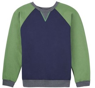 Fruit of the Loom Boys 4-18 Fleece Raglan Crew Neck Sweatshirt
