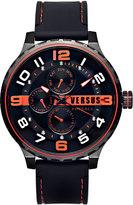 Versus By Versace 50mm Globe Oversized Chronograph Watch, Black/Black
