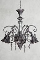 Anthropologie Glass Calixta Chandelier, Downward