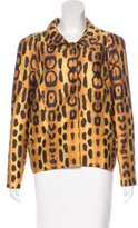 Oscar de la Renta Silk-Blend Leopard Print Jacket