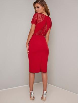 Chi Chi London Mariala Dress - Red