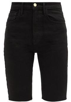 Frame Le Vintage Denim Bermuda Shorts - Black