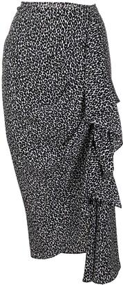 MICHAEL Michael Kors Animal-Print Draped Skirt