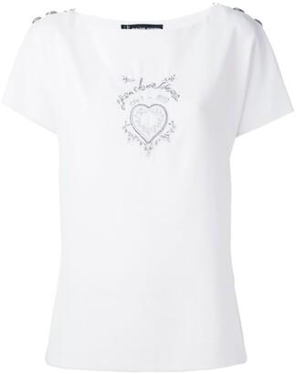 Jean Louis Scherrer Pre-Owned heart motif top