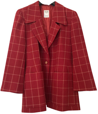 Celine Red Cotton Jackets