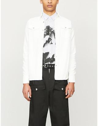 Izzue Brand-tab slim-fit denim jacket