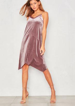 Ever New Jaida Dusky Pink Velvet Midi Slip Dress