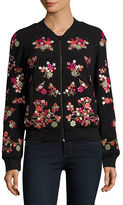 French Connection Embellished Bomber Jacket