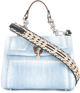 Ermanno Scervino denim tote bag - women - Cotton/Leather/Brass - One Size