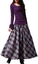 Femirah Women's Wool Skirt Long Woolen Skirt Autumn Winter Maxi Skirt