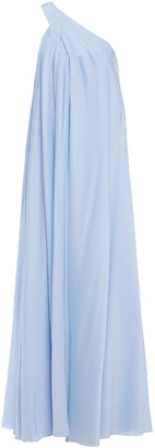 Lanvin One-shoulder Cady Gown