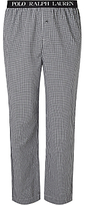 Polo Ralph Lauren Sutton Woven Cotton Check Lounge Pants, Black