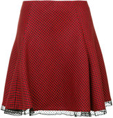 RED Valentino lace hem skirt - women - Polyester/Acetate/Virgin Wool - 38