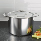 Crate & Barrel ZWILLING ® Demeyere 5-Plus Stainless Steel 8-Qt. Stock Pot