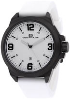 Oceanaut Mens Armada White Rubber Strap Watch