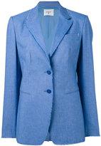 Dondup notched lapel blazer - women - Cupro/Spandex/Elastane/Cotton/Linen/Flax - 42