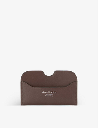 Acne Studios Elma brand-embossed leather card holder