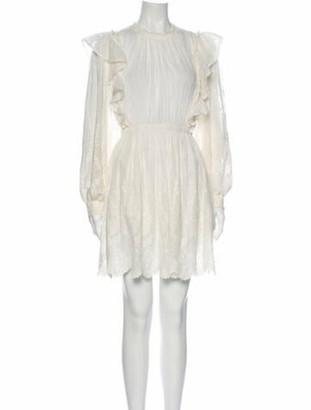 Ulla Johnson Crew Neck Mini Dress White