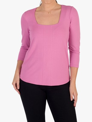 Chesca Square Neck Long Sleeve Top