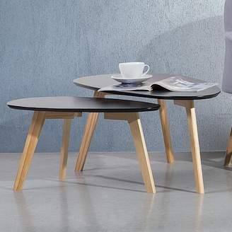 Fly London II 2 Piece Nesting Tables Home Loft Concepts Color: Black