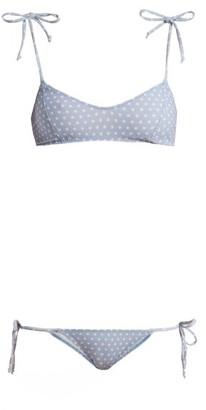 Lisa Marie Fernandez Nicole Polka Dot Bikini - Womens - Blue Multi