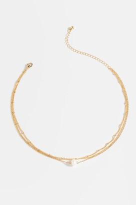 francesca's Courtney Mini Pearl Multi-Strand Necklace - Pearl