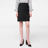 Paul Smith Women's Black Virgin Wool Skirt