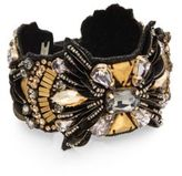 Deepa Gurnani Warrior Austrian Crystal & Suede Bracelet