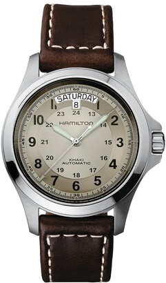 Hamilton Khaki Field King Automatic Leather Strap Watch, 40mm