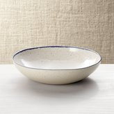 Crate & Barrel Lina Blue Stripe Pasta/Soup Bowl