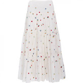 Suno Embroidered Smocked Maxi Skirt