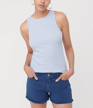 LOFT Striped Ribbed Racerback Outfit-Making Tank