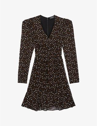The Kooples Polka-dot woven midi dress