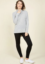 ModCloth Heed Your Warming Fleece-Lined Leggings in Black in L/XL