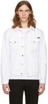 Nudie Jeans White Billy Worn Denim Jacket