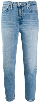 Tommy Hilfiger cropped contrast stitched jeans