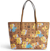 MCM Floral leather tote