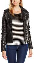 Mustang Leather Women's Long Sleeve Jacket - Black -