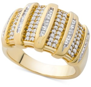 Macy's Diamond Wide Statement Ring (1/2 ct. t.w.) in Gold-Plated Sterling Silver