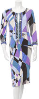 Emilio Pucci Embellished Printed Dress w/ Tags