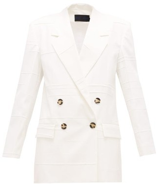 Proenza Schouler Double-breasted Crinkled-crepe Jacket - Womens - Ivory