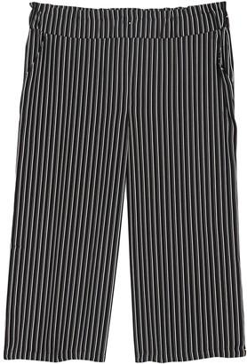 Halogen Pull-On Wide Leg Crop Pants (Plus Size)