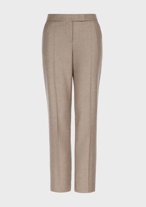 Giorgio Armani Viscose Cady Regular Fit Trousers